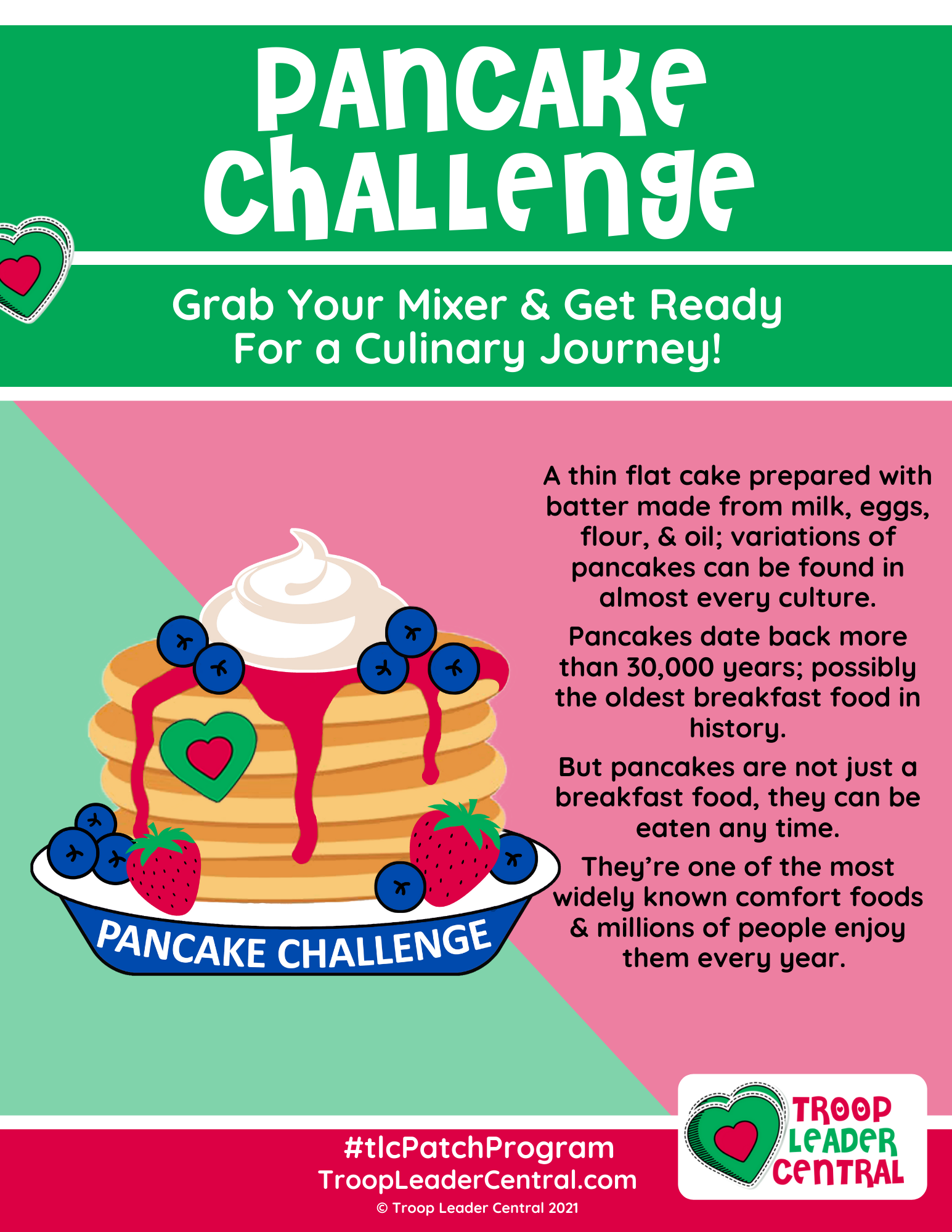 Pancake Challenge Fun Patch Program